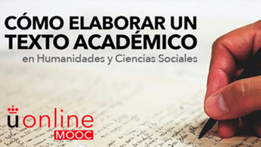 MOOC. Cómo elaborar un texto académico en Humanidades y Ciencias Sociales (3ª edición)