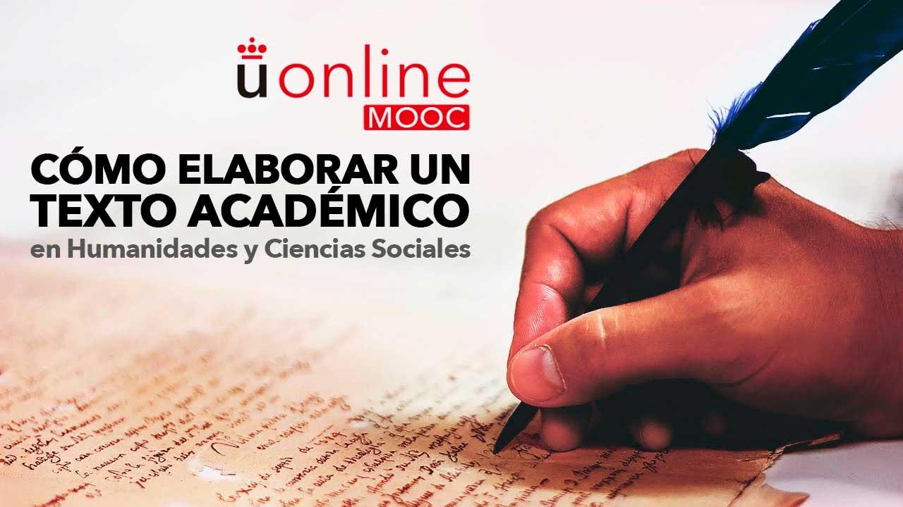 5ª Edición del MOOC Cómo elaborar un texto académico en Humanidades y Ciencias Sociales