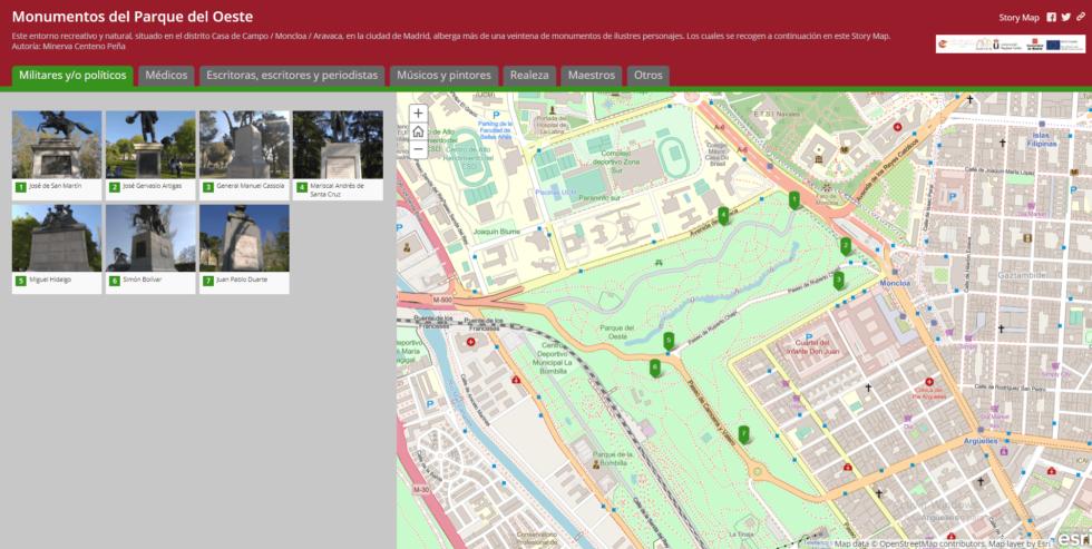Nuevos Story Maps: murallas de Madrid y Parque del Oeste